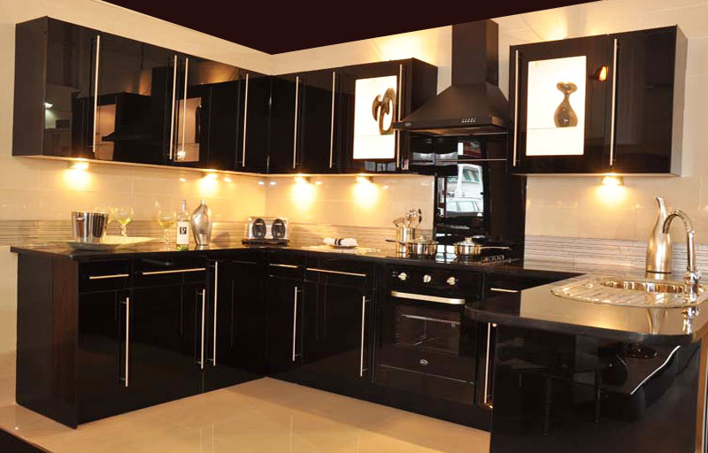 Kitchens for sale lancashire kitchens for sale in for Black kitchen cabinets for sale